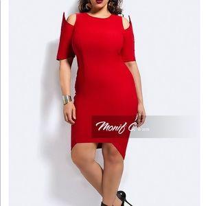 Monif C Eden red dress 3x